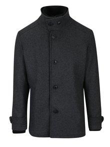 Šedý vlněný zimní kabát Jack & Jones Joe