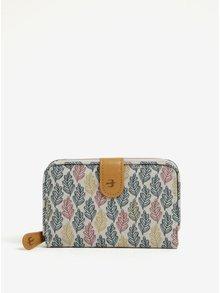 Tyrkysovo-krémová vzorovaná peňaženka Brakeburn