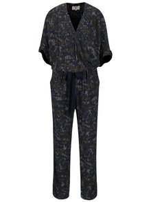 Tmavomodrý vzorovaný overal Garcia Jeans