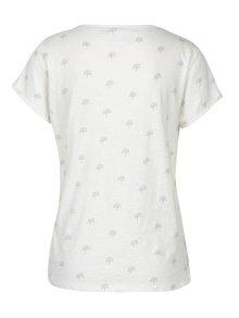 Krémové tričko s véčkovým výstřihem Brakeburn