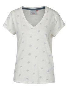 Krémové tričko s véčkovým výstrihom Brakeburn