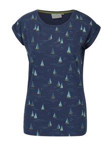 Tricou bleumarin&galben cu print maritim Brakeburn