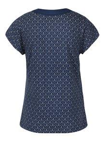 Tricou bleumarin&bej cu print ancore Brakeburn