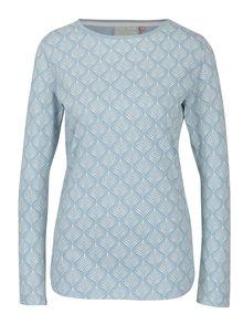 Bluza bleu&crem cu print floral stilizat Brakeburn