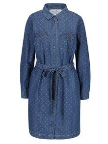 Modré košeľové šaty s opaskom Brakeburn