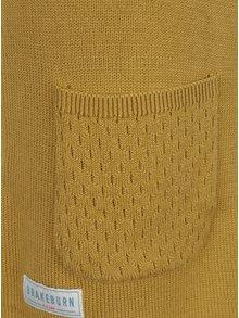 Rochie pulover galben mustar cu buzunare  Brakeburn