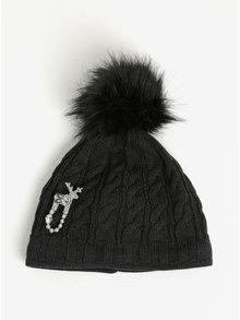 Černá dámská zimní voděodpudivá čepice z Merino vlny Kama