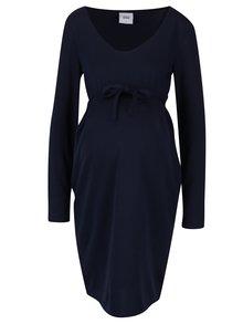 Tmavě modré těhotenské šaty Mama.licious Tilly