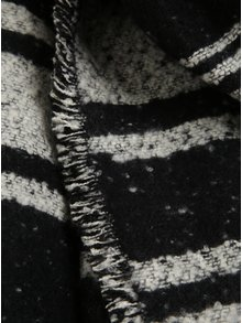 Krémovo-černá dlouhá pruhovaná šála Pieces Jessica