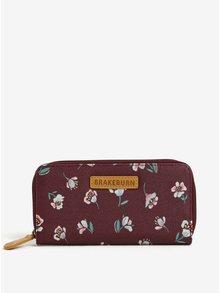 Vínová kvetovaná peňaženka Brakeburn