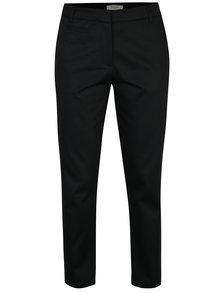 Pantaloni chino negri cu talie medie si buzunare -  Selected Femme Audrey