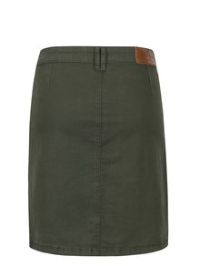 Tmavozelená sukňa s gombíkmi Brakeburn