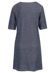 Modré mikinové šaty s krátkým rukávem Brakeburn