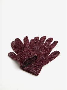 Vínové rukavice so vzorom v striebornej farbe Pieces Rubi