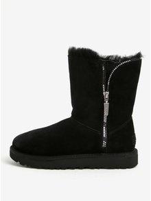 Cizme negre impermeabile&rezistente la inghet din piele intoarsa de oaie si lana UGG Marice