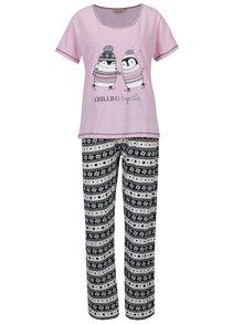 Modro-růžové pyžamo Dorothy Perkins