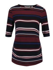 Černo-vínové pruhované těhotenské tričko Dorothy Perkins Maternity