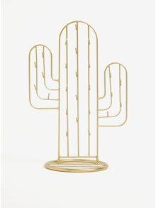 Suport auriu din metal sub forma de cactus pentru bijuterii - Sass & Belle Gold Cactus