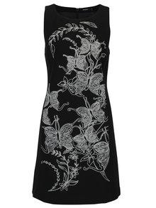 Čierne šaty s výšivkou Dorothy Perkins