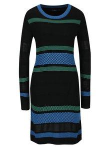 Černé pruhované svetrové šaty Desigual Susan