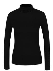 Černé tričko s rolákem Dorothy Perkins Petite