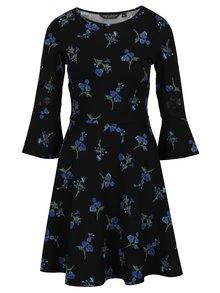 Modro–čierne kvetované šaty Dorothy Perkins