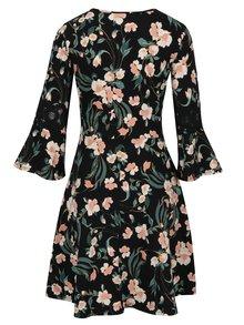 Ružovo–čierne kvetované šaty Dorothy Perkins