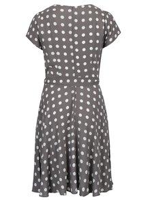 Šedé vzorované šaty s páskem Billie & Blossom