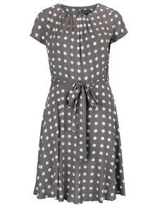 Sivé vzorované šaty s opaskom Billie & Blossom