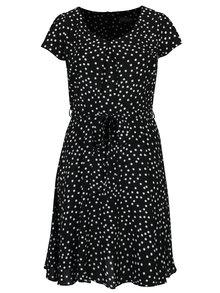 Černé vzorované šaty s páskem Billie & Blossom