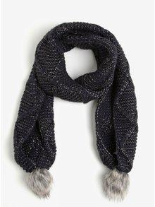 Fular bleumarin cu pompoane - ONLY Asta