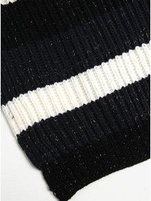 Modro-čierny pruhovaný šál ONLY Annica
