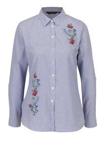 Modrá košile s výšivkou Dorothy Perkins