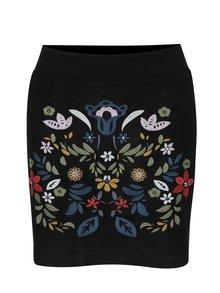 Černá mini sukně v sametové úpravě Desigual Ariadna