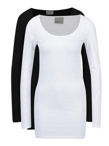 Set de 2 bluze basic alb & negru - VERO MODA