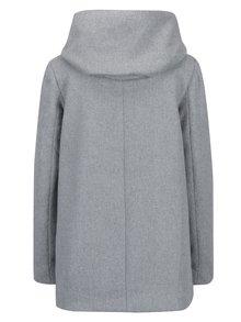 Palton gri din amestec de lana cu gluga pentru toamna / iarna - VERO MODA