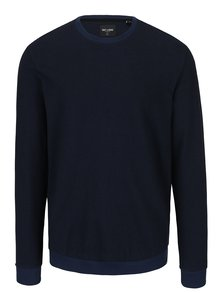 Bluzaa sport bleumarin cu terminatii contrastante - ONLY & SONS Temmy