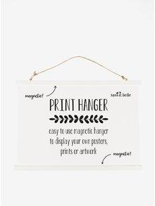 Velký bílý závěsný magnetický rámeček Sass & Belle Print