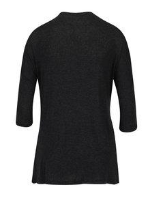 Tmavě šedé žíhané tričko s potiskem Desigual Nati