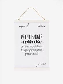 Malý bílý závěsný magnetický rámeček Sass & Belle Print