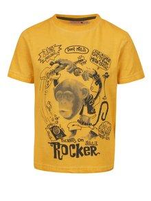 Žluté klučičí tričko s potiskem BÓBOLI
