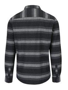Sivá pruhovaná slim fit košeľa ONLY & SONS Bror