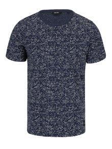Modré vzorované tričko ONLY & SONS Akim