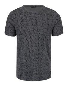 Šedé vzorované tričko ONLY & SONS Akim