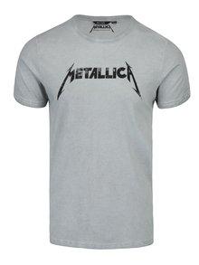 Tricou gri deschis cu print Metallica - ONLY & SONS Band