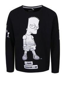 Čierne chlapčenské tričko s potlačou name it Simpsons