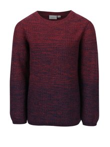 Vínový chlapčenský melírovaný sveter name it Hep