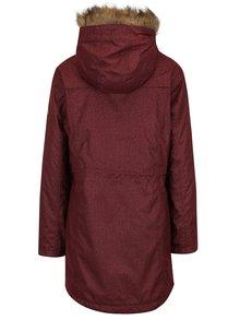 Geaca parka rosu bordo impermeabila de iarna cu gluga pentru femei - MEATFLY Rainy 2