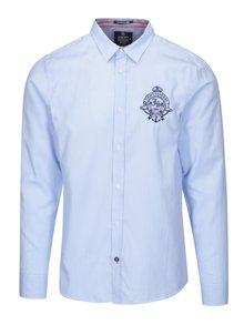 Modrá pánska košeľa s výšivkou Jimmy Sanders
