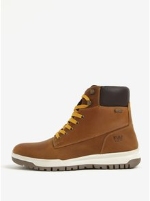 Hnedé pánske kožené členkové topánky Weinbrenner